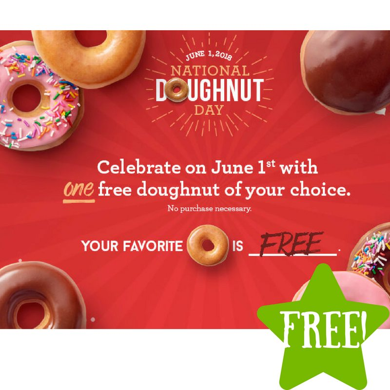 FREE Doughnut at Krispy Kreme on June 1st
