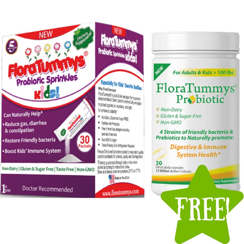 FREE Sample of FloraTummys Probiotic for Kids or Adults