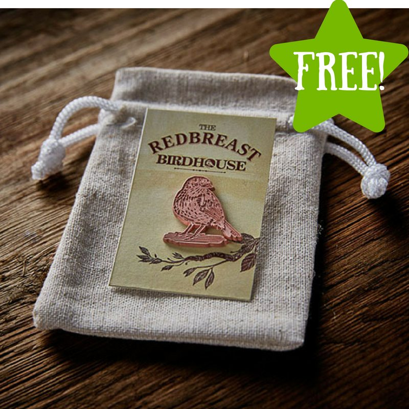 FREE Redbreast Birdhouse Pin