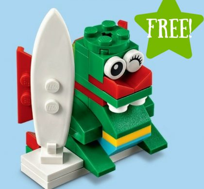 FREE LEGO Surfer Dragon Mini Model Build