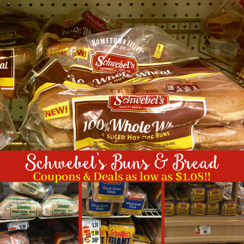 Hot New Schwebel's Coupons for Buns & Bread = Deals at Tops as low as $1.08!