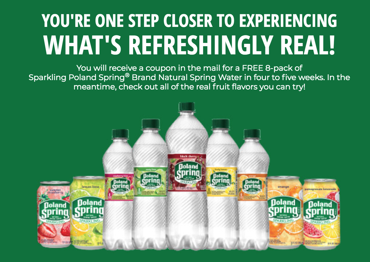 Get a Free 8 pack of Flavored Spring Water!!