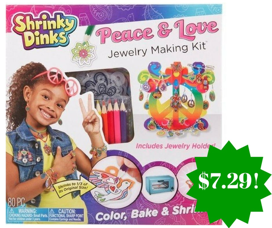 Amazon: Shrinky Dinks Peace and Love Jewelry Kit Only $7.29 (Reg. $15.50)