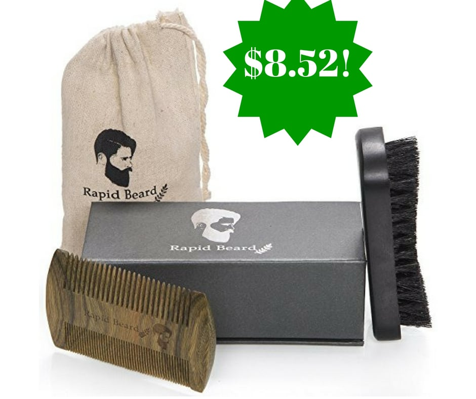 Amazon: Rapid Beard Beard Brush and Comb Kit Only $8.52 (Reg. $50)