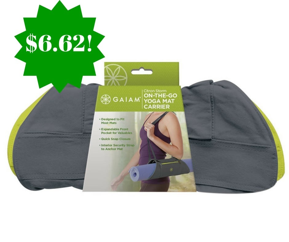 Amazon: Gaiam Yoga Mat Carrier Only $6.62 (Reg. $15)