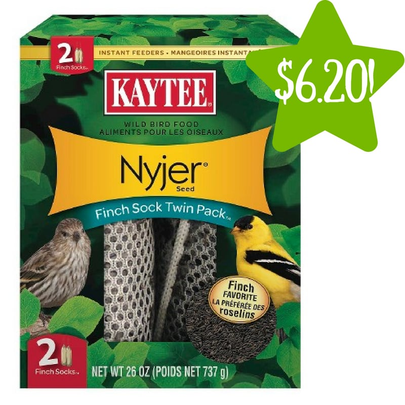Target: Kaytee Nyjer Seed Finch Sock Twin Pack Only $6.20 (Reg. $12.39)