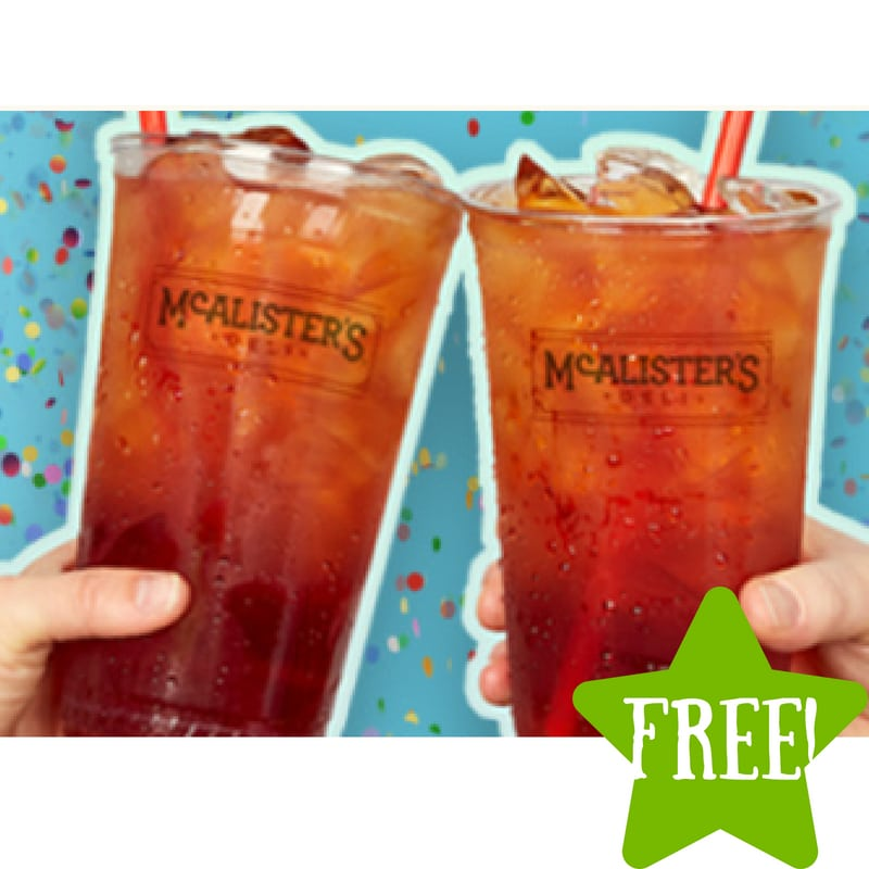 FREE Iced Tea at McAlister's Deli