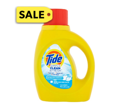 Dollar General: Tide Simply Laundry Detergent Only $1.95!
