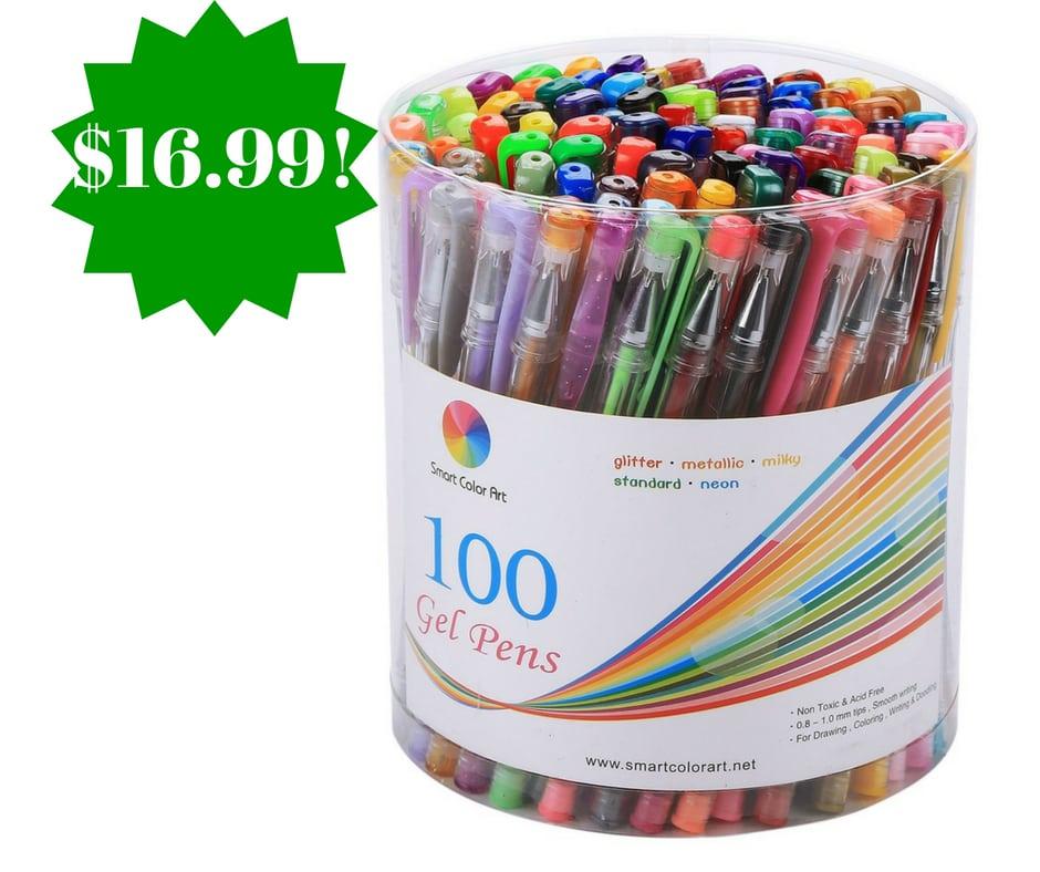 Amazon: Smart Color Art 100 Colors Gel Pens Set Only $16.99 (Reg. $59)