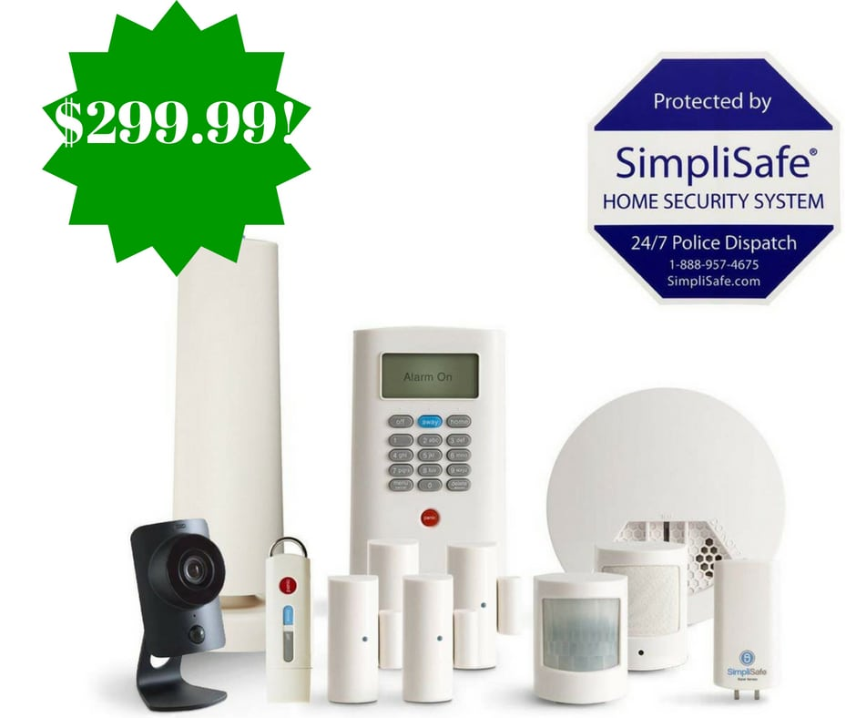 Amazon Simplisafe 12 Piece Home Security System Only 299