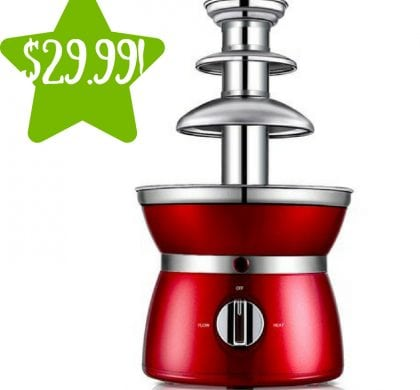 Walmart: Gymax 3 Tiers Chocolate Fondue Fountain Only $29.99 (Reg. $60)