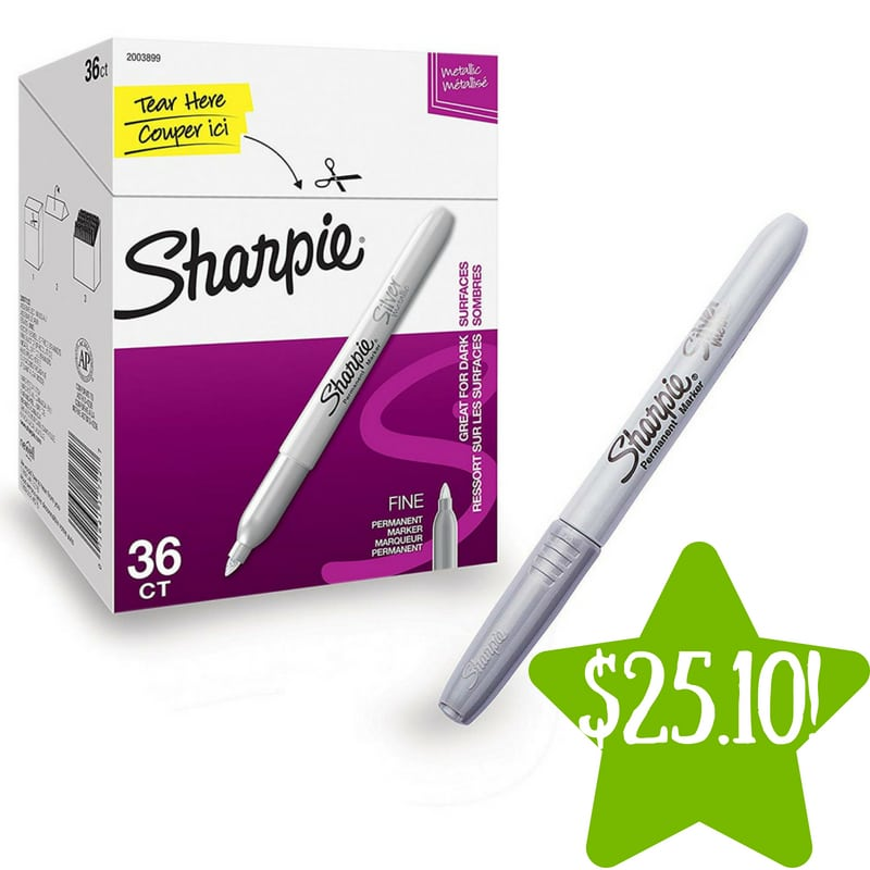 Amazon: Sharpie Metallic Permanent Markers Only $25.10 (Reg. $85)