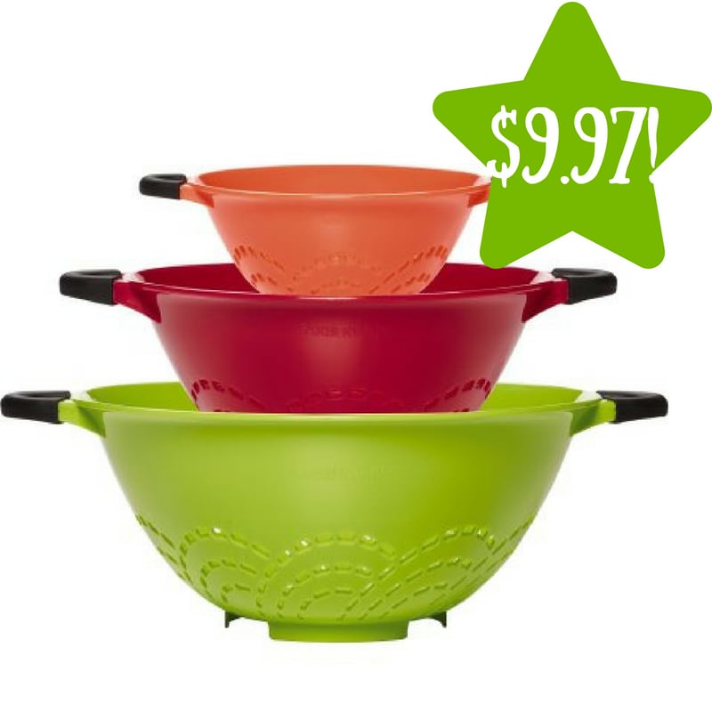 Walmart: Set of 3 Farberware Soft Grip Strainers Only $9.97