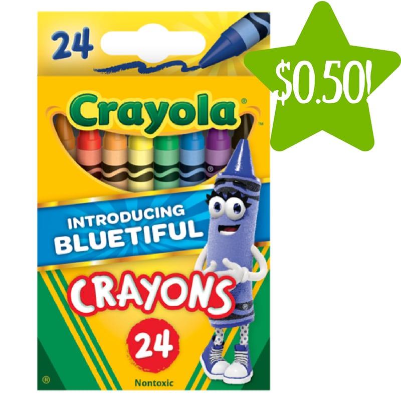 Walmart: Crayola Classic Crayon 24 Count Only $0.50 (Reg. $1.50)