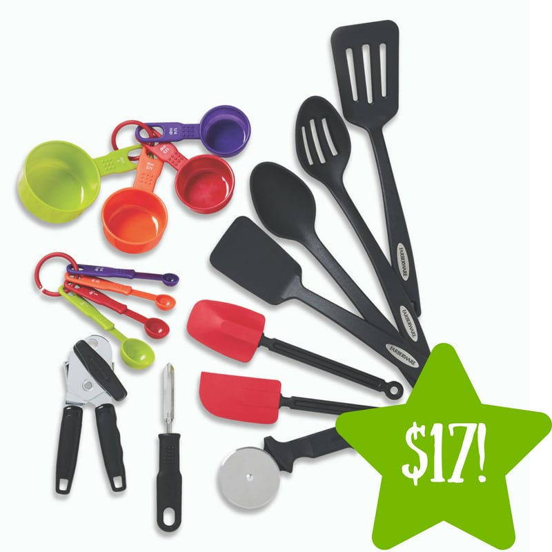 Walmart: Farberware Classic 17 Piece Kitchen Tool and Gadget Set Only $17 (Reg. $26)
