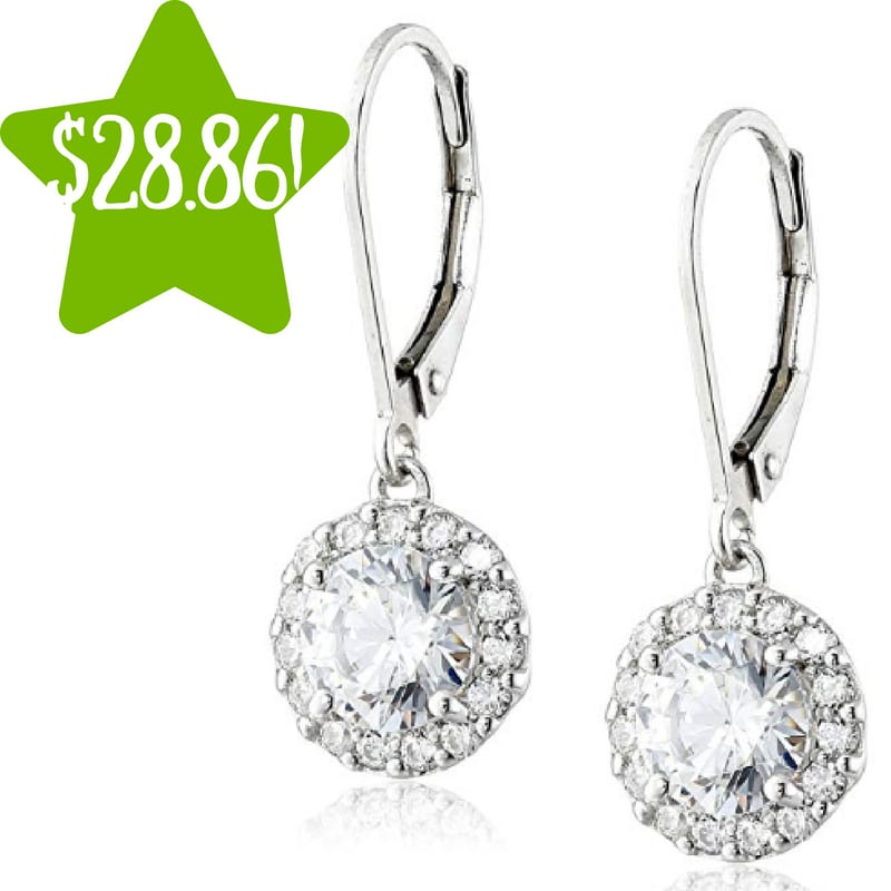 Amazon: Round Cut Swarovski Zirconia Dangle Earrings Only $28.86 (Reg. $99)