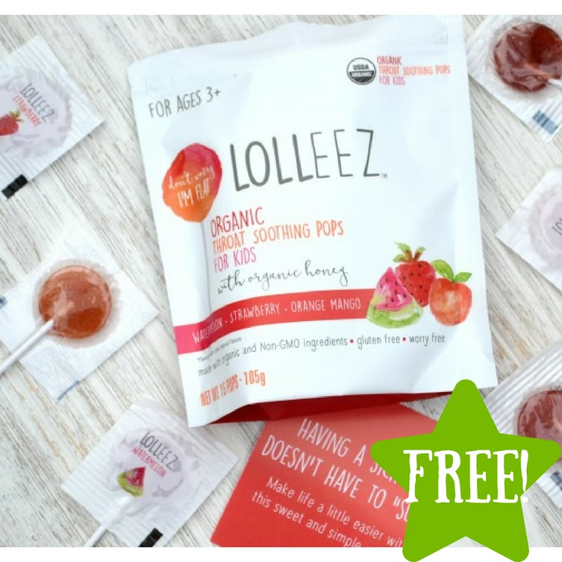 FREE Lolleez Throat Soothing Lollipops