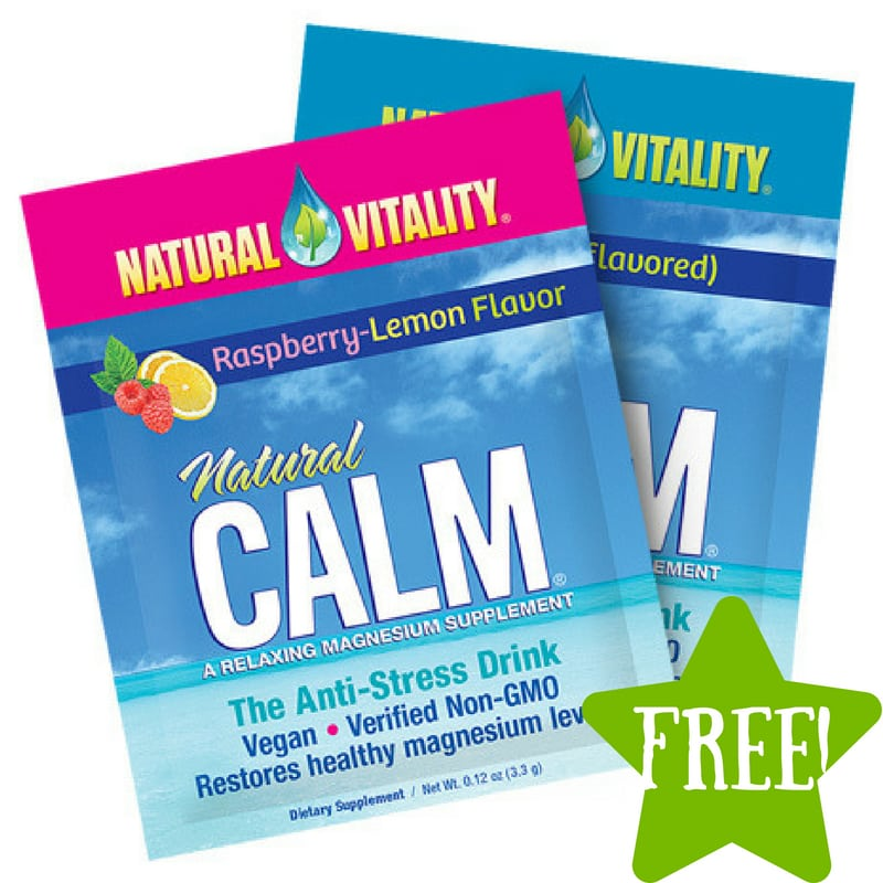 FREE Sample of Natural Vitality Natural Calm Drink