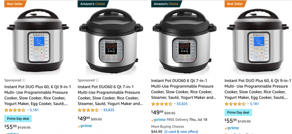 Instant Pot Amazon Prime Deals