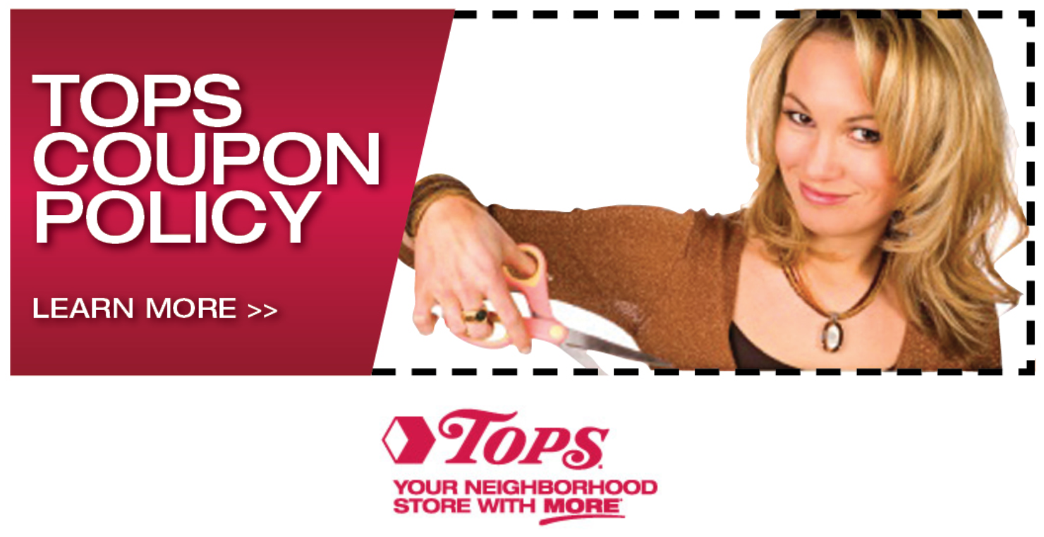 Tops Coupon Policy for shopping at Tops Markets