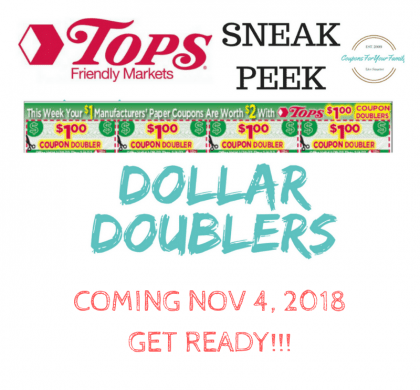WOOHOOO!!!  Tops DOLLAR DOUBLERS coming week of 11/4!!!! Sign up to get full list of deals coming!!