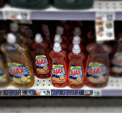 Ajax Dish detergent only $.79 at Tops!