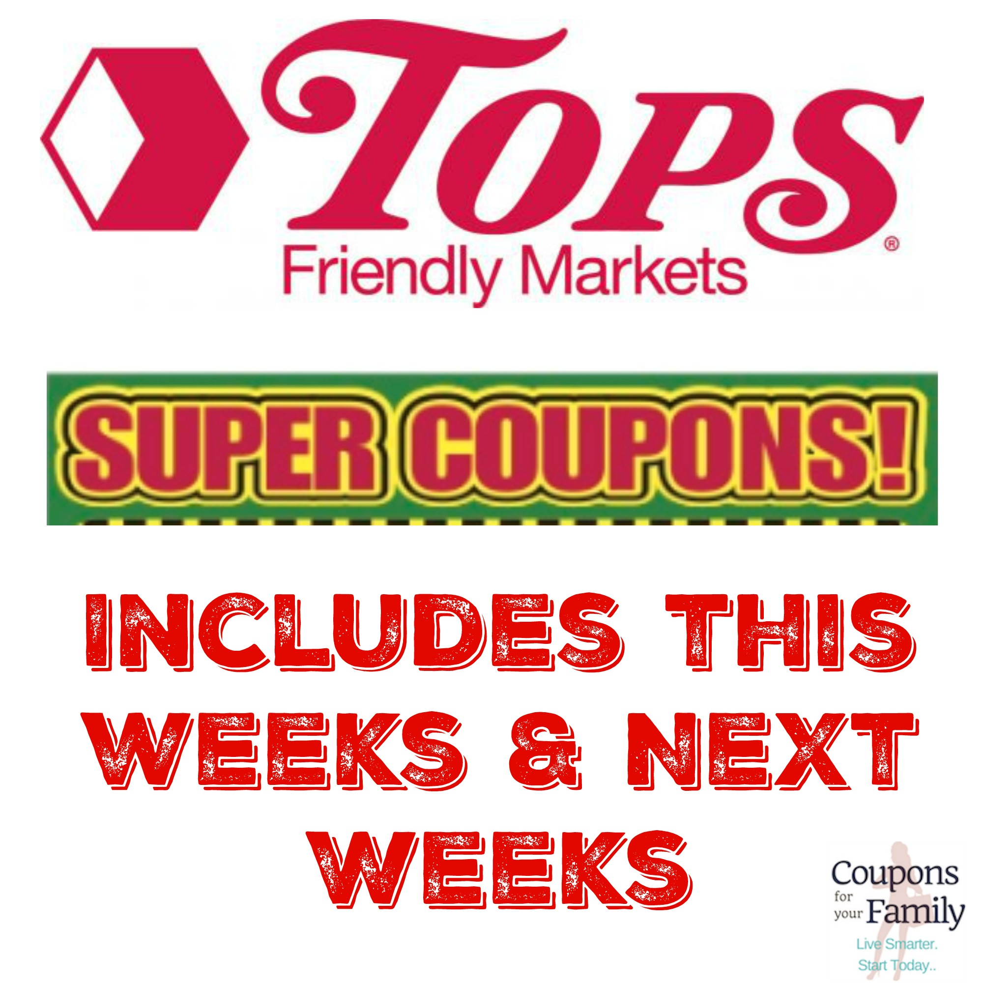 Scan this weeks Tops Coupons & Super Coupons right here (next weeks included too) includes doublers!