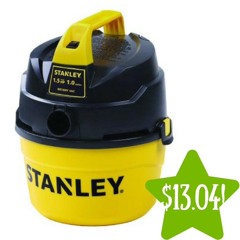 Walmart: Stanley 1 Gallon Wet Dry Vac Only $13.04 (Reg. $30)