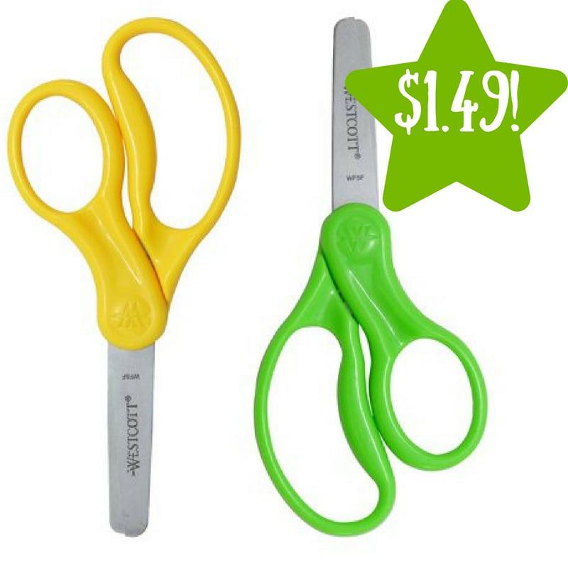 Walmart: Westcott 5″ Blunt Kids' Scissors 2 Pack Only $1.49 (Reg. $7.17)