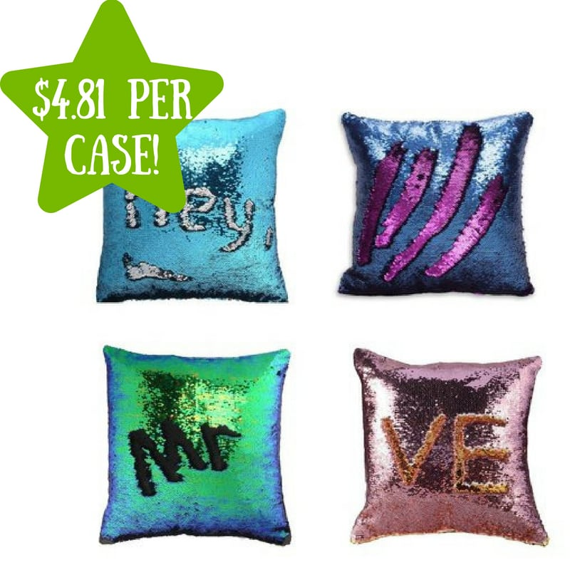 Walmart: Reversible Mermaid Throw Pillow Case 4 Pack Only $4.81 Per Case