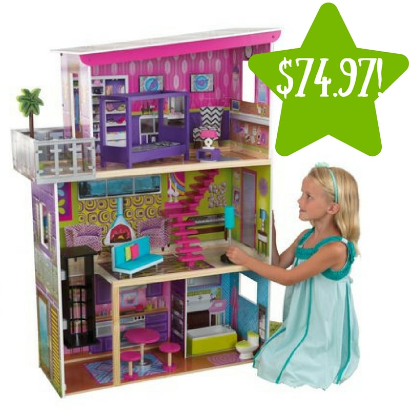 Walmart: KidKraft Super Model Dollhouse with 11 Accessories Only $74.97 (Reg. $140)