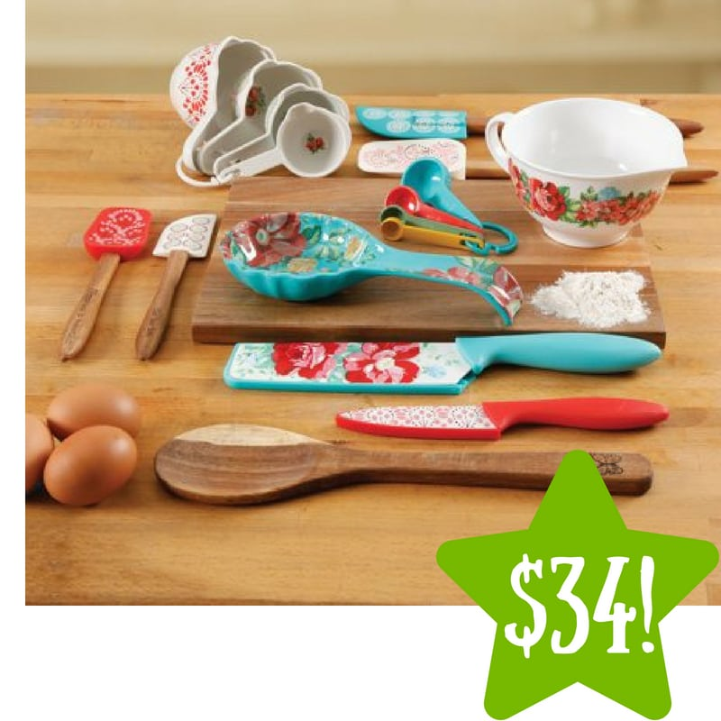 Walmart: The Pioneer Woman Vintage Floral 20-Pc. Gadget Set Only $34 (Reg. $60)