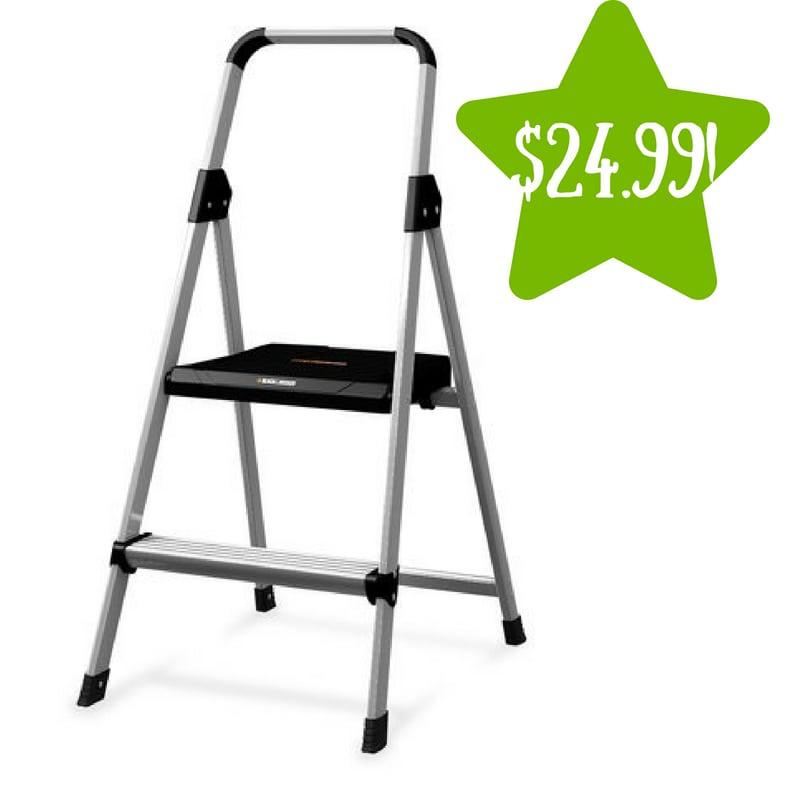 Walmart: Black and Decker Lightweight Folding Step Stool Only $24.99 (Reg. $58)