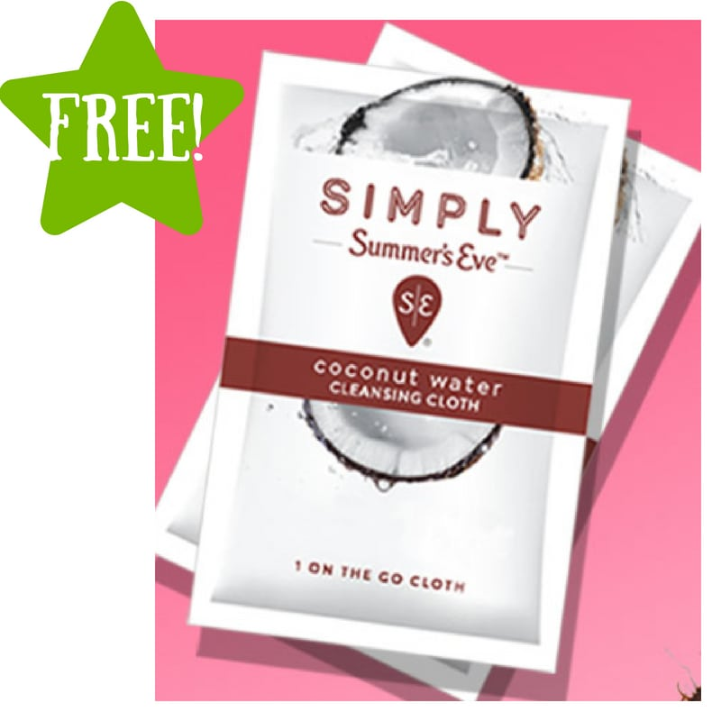 FREE Summer's Eve Simply Coconut Water Cleansing Cloths