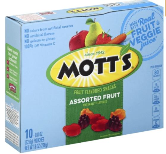 Wegmans: Mott's Fruit Flavored Snacks Only $1.49!