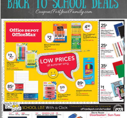 Office Depot Weekly Ad Preview & Back To School Deals 8/19-8/25 are live!