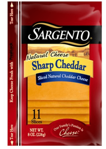 Walmart: Sargento Natural Sliced Cheese Only $2.18!