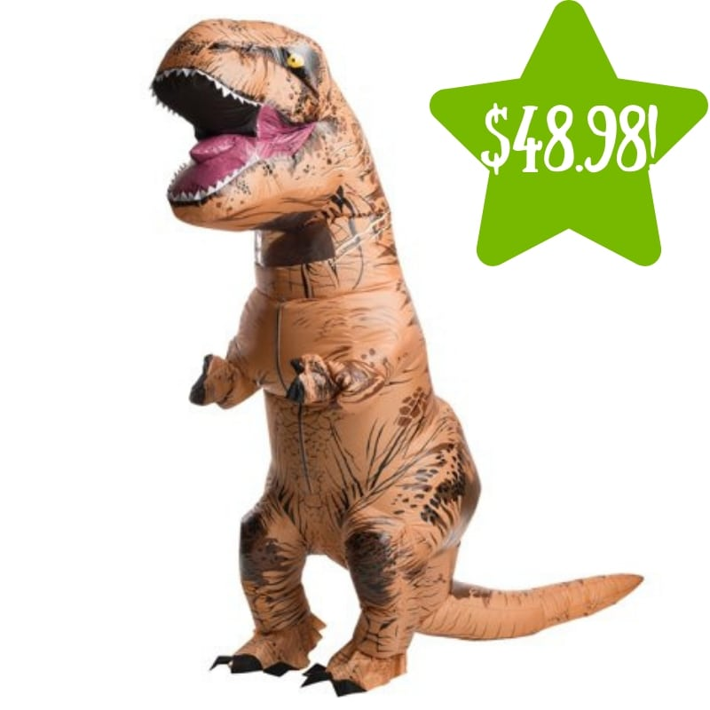 Walmart: Adult Inflatable T-Rex Costume Only $48.98 (Reg. $59)