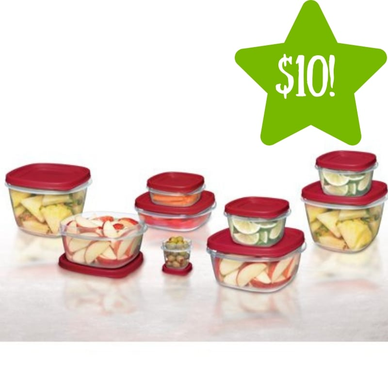 Walmart: 24 Piece Rubbermaid Easy Find Lids Food Storage Container Set Only $10