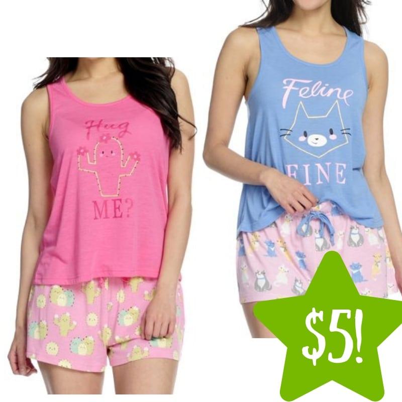 Walmart: Women's 2-Piece Tank & Shorts Pajama Set Only $5 (Reg. $17)