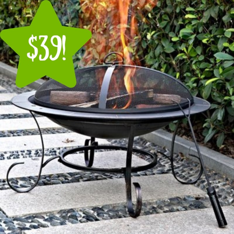Walmart: Andover 30″ Round Steel Fire Pit Only $39