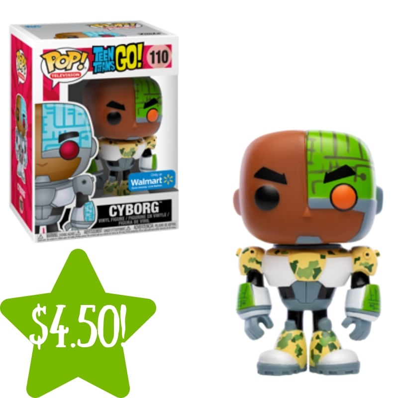 Walmart: Funko POP TV: Teen Titans Go! Cyborg Only $4.50 (Reg. $9)