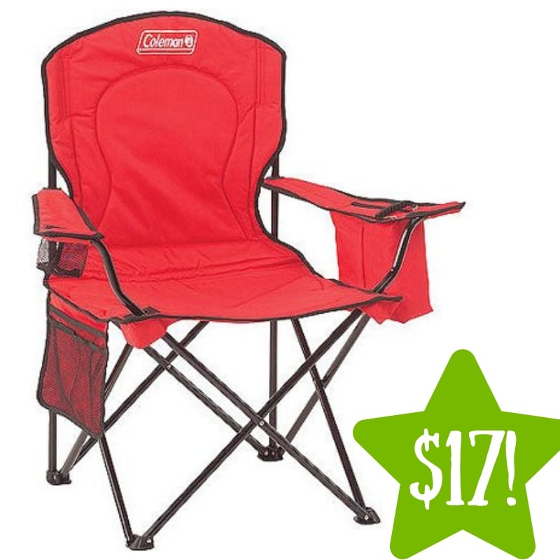 Walmart: Coleman Oversized Quad Chair with Cooler Pouch Only $17