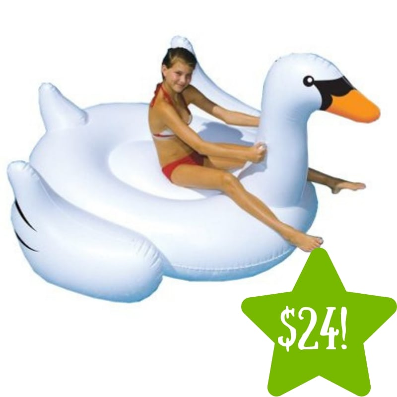Walmart: Swimline Giant Inflatable Swan Ride-On Only $24 (Reg. $96)