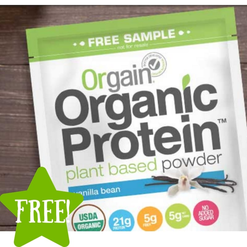 FREE Sample of Orgain Organic Protein Powder
