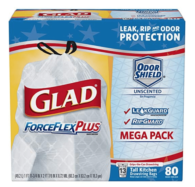 Shop Online Deal: Glad 13 gallon trash bags on sale as low as $.09 per bag!