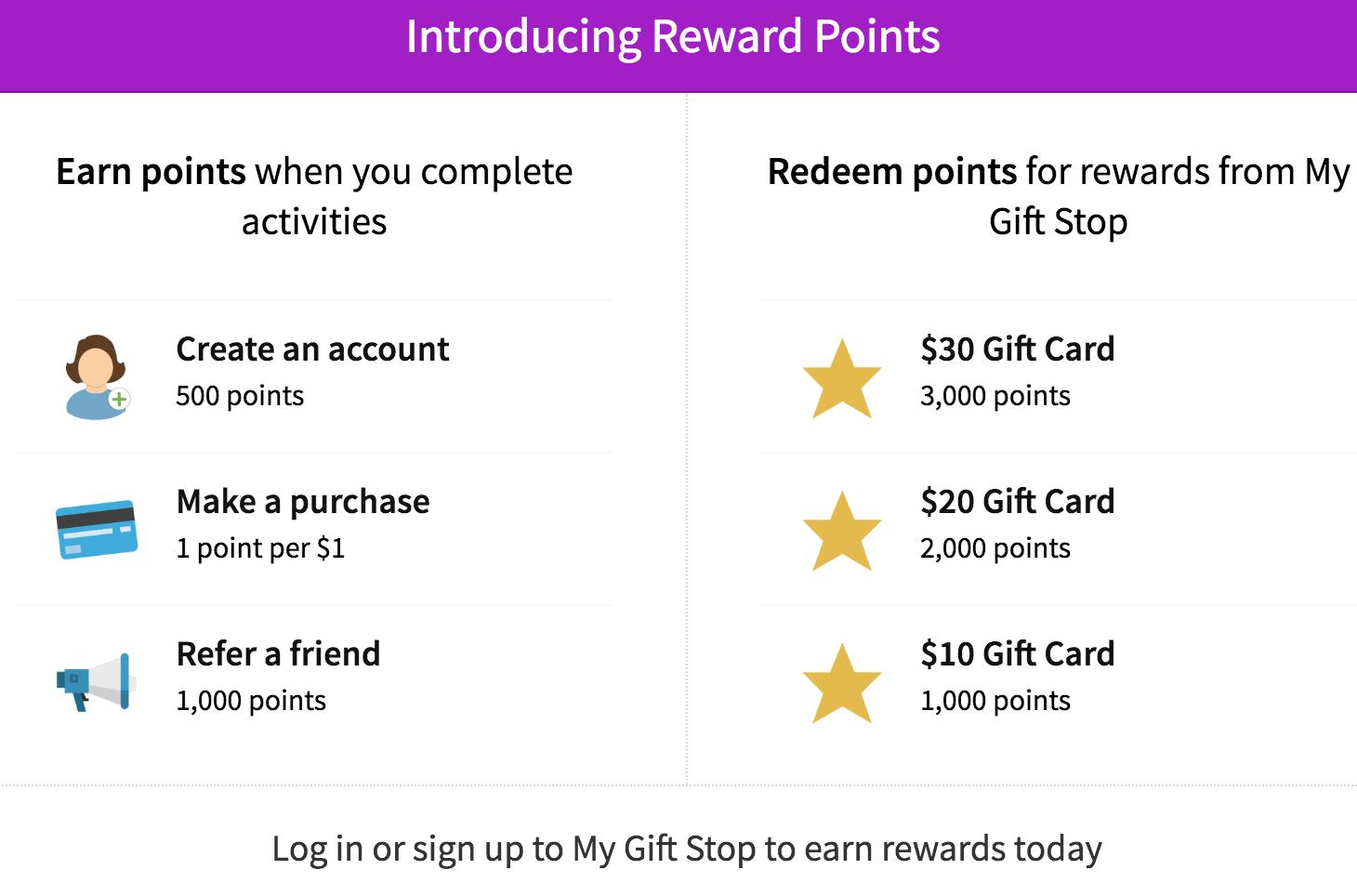 My Gift Stop Rewards Program