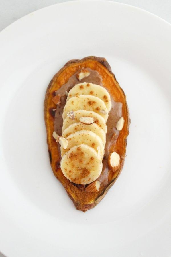 Banana Almond Sweet Potato Toppings