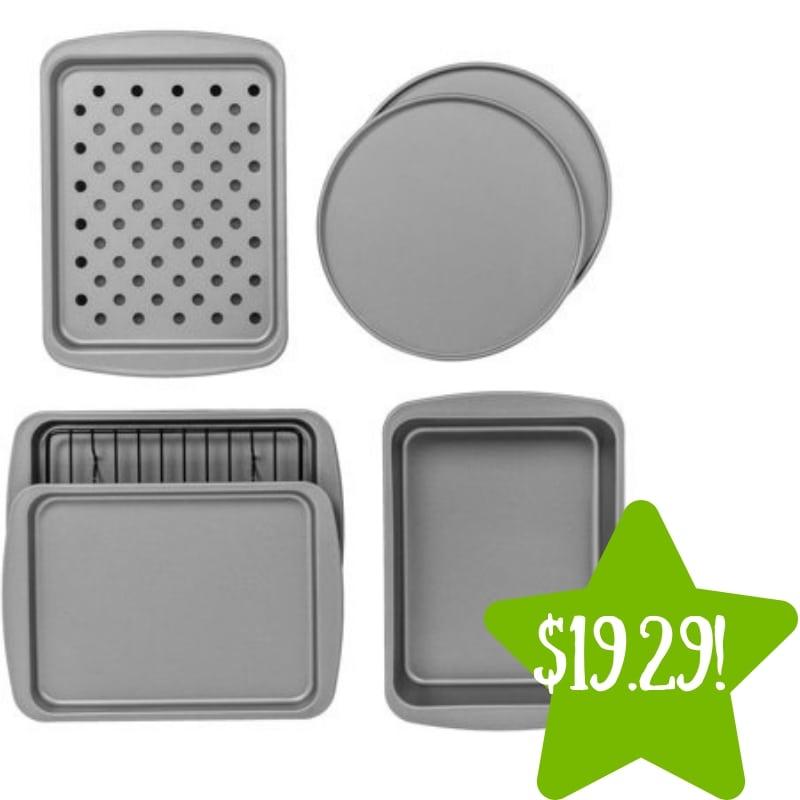 Walmart: BakerEze 8-Piece Non-stick Bakeware Set Only $19.29 (Reg. $27)