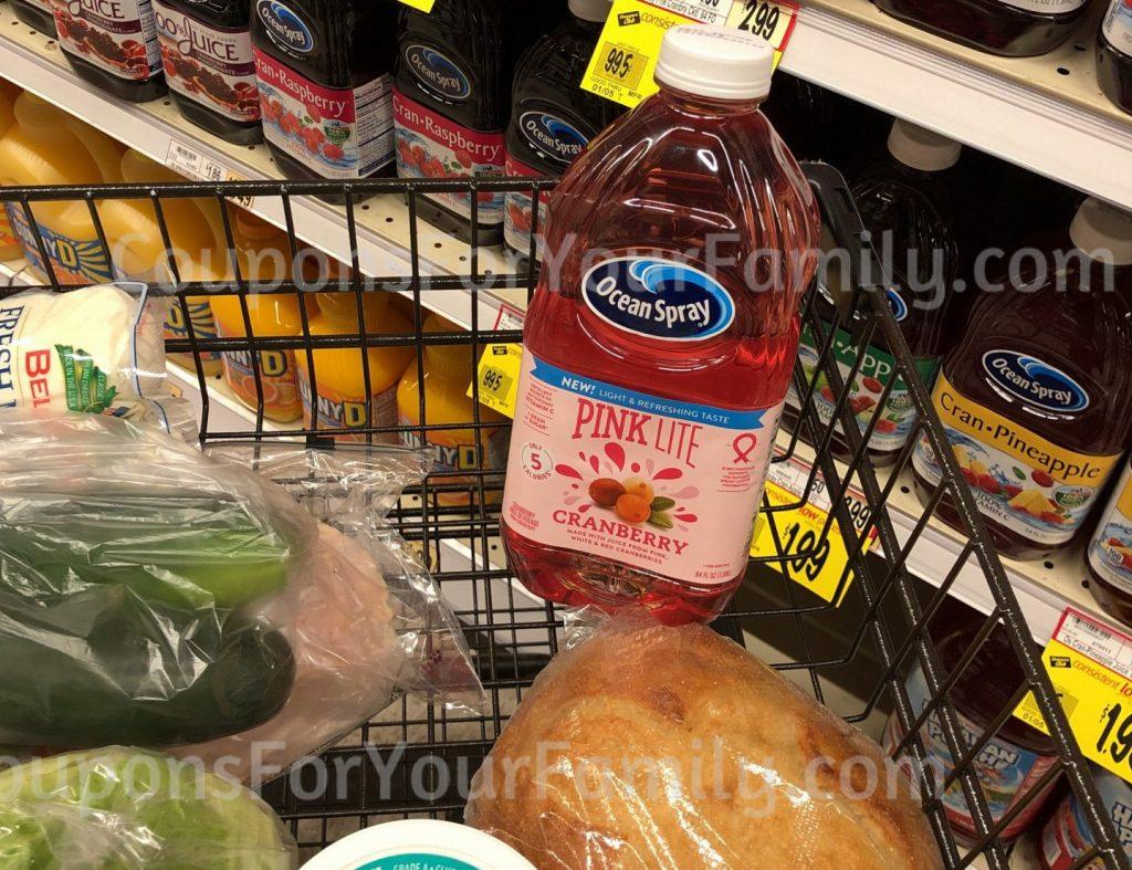 pink cranberry ocean spray coupons